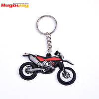 Motorcycle shaped 2d cheap custom soft pvc keychain