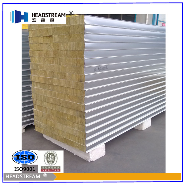 Building Sandwich Panel : Building material rock wool roof sandwich panel price