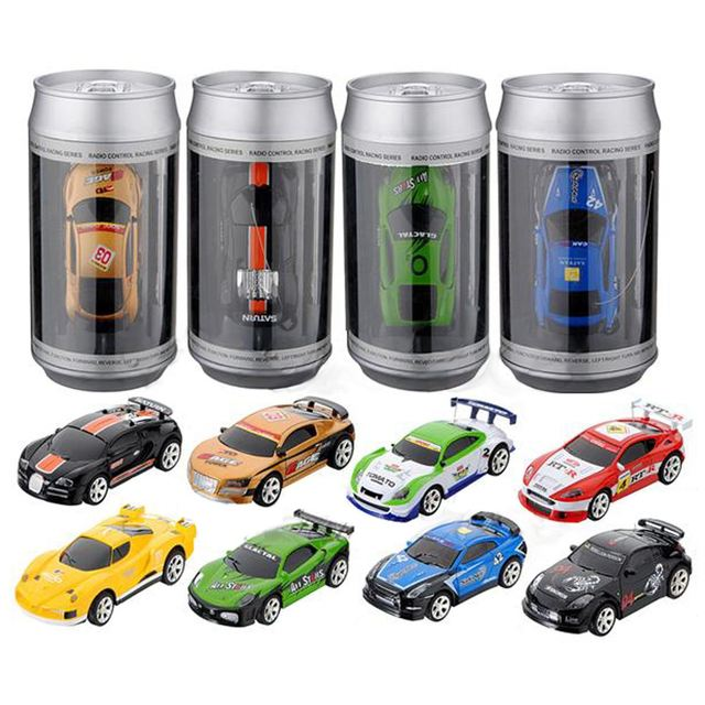 Hot Sale Coke Can Mini RC Car Radio Remote Control Micro Racing Car 4 Frequencies