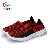 fancy breathable knit running sneaker men shoes