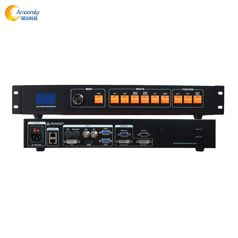 linsn nova led controller card with hd AMS-LVP506 4 channel color quad processor led rental display dvi video switcher processor
