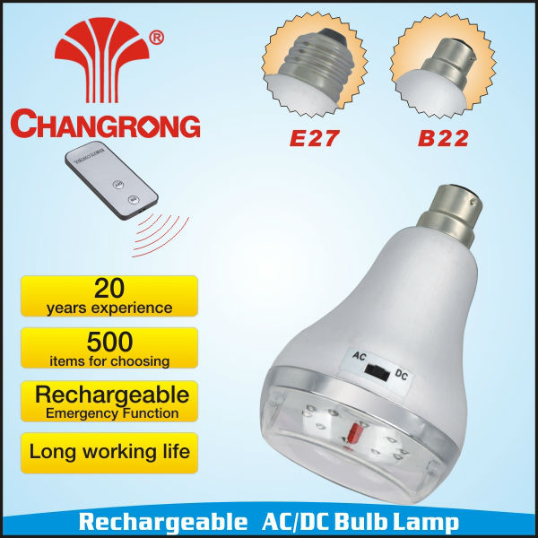 rechargeable emergency E27 B22 led lamp hot models