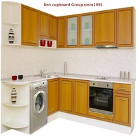 Hot!Welbom Traditional Kitchen White Solid Wood Kitchen Cabinet