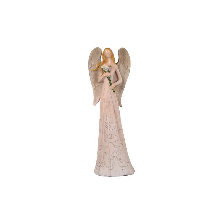 Hot sale house ornaments archaized garden statues 36cm small angel figurines