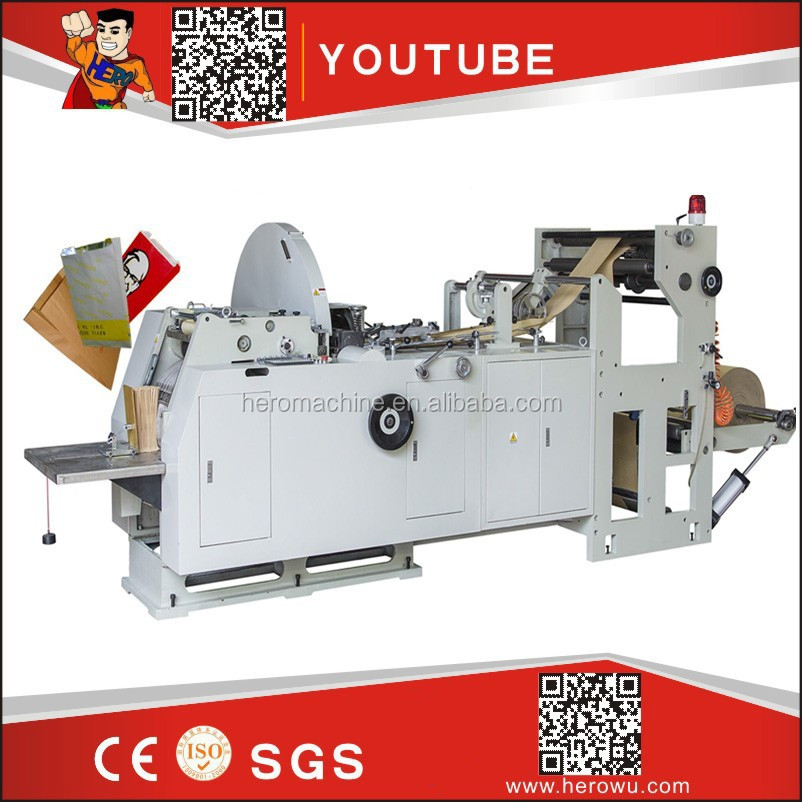 HERO BRAND square bottom paper bag making machine