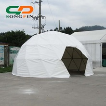 6m galvanized steel sphere tent round geodesic dome tent for sale