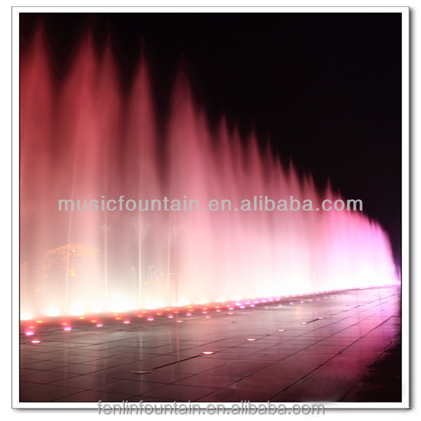 Water park musical running fountain in lake