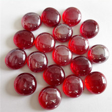 Red coloured glass pebbles