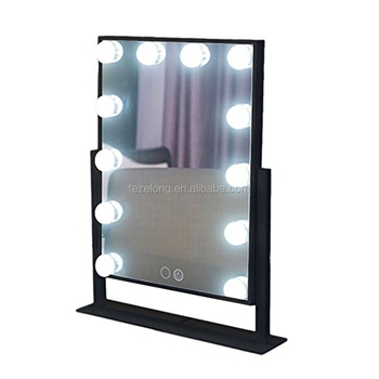 light bubles on desktop with high light leds for making up mirror