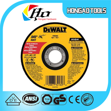 Dewalt,Dewalt brand,DC ,Long Life High Quality aluminum oxide resin bonding Cutting Disc/Wheel for Metal as good as DEWALT