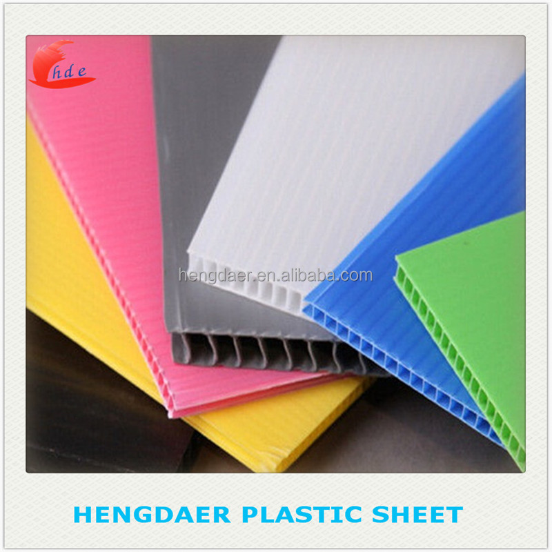 High quality hengdaer attractive pricecorflute/ correx board/ pp corrugated sheet/cartonplast