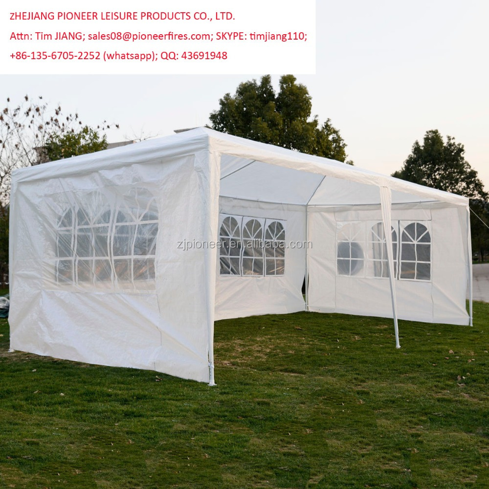 10'x20' Outdoor Wedding Party Tent Camping Shelter Gazebo Canopy with Sidewalls Easy Set Gazebo BBQ Pavilion Canopy Cater Events