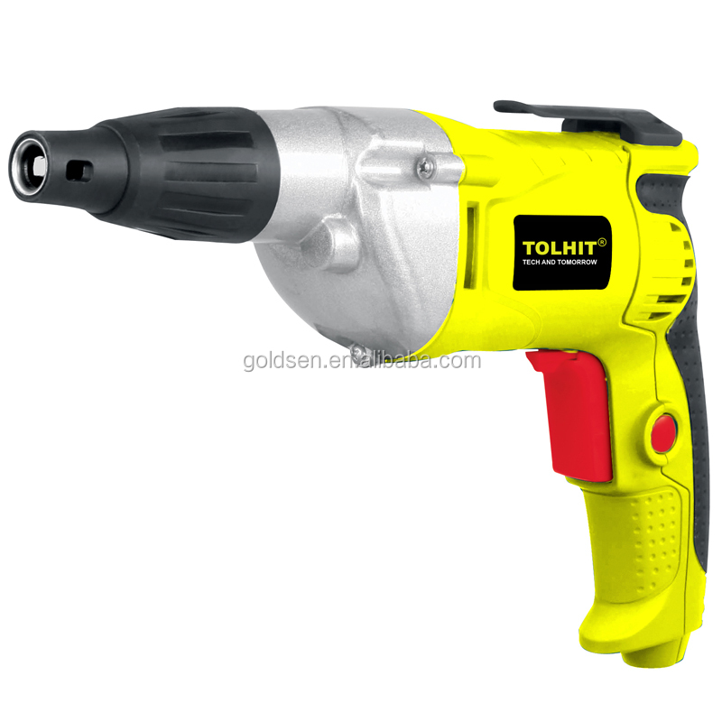 "TOLHIT 600w 1/4"" Hex Variable Speed Torque Drywall Drill Driver Machine Electric Screwdriver"