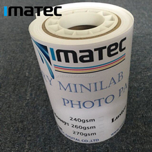 240Gsm High Glossy and Luster Surface Fuji Minilab Dry Lab Photo Paper Roll in 6 X 65Meters