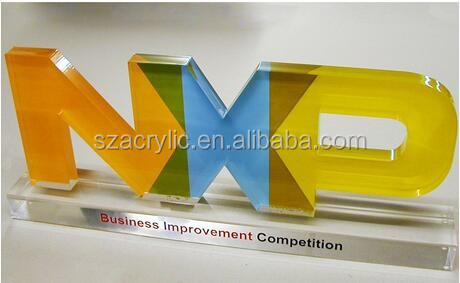 acrylic desk top logo block
