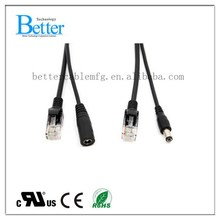 Popular top sell power over ethernet dc poe cable