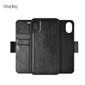 C&T Detachable 2 in 1 Leather Wallet Folio Flip Back Cover Case With Magnetic Strap for iPhone 8