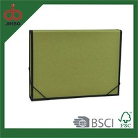 A4 Size Paper Material Box Shape File Box With Elastic
