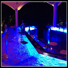 night club led lighted translucent bar countertop