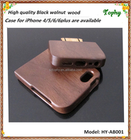 Hot Sell Wooden Case for iPhone 5 Wooden Hard Shell , USA Walnut wood case for i phone 5s, for i phone 5 back cover protector