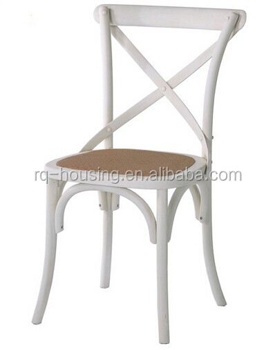 Europe Antique Wooden High Back Cross Chair Clic Wood