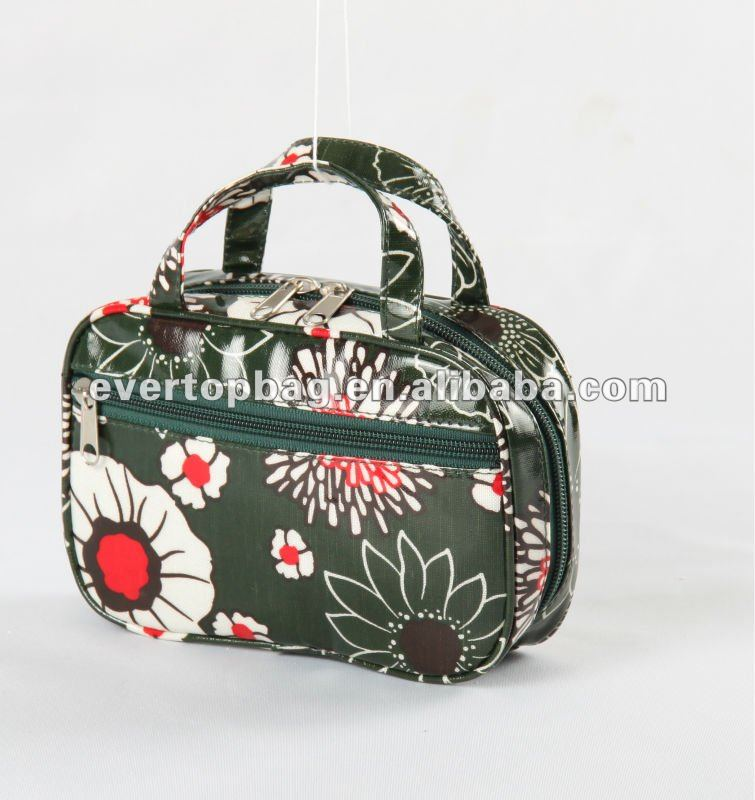 2015 new design printing cotton cosmetic beauty bag