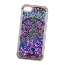 Mobile phone accessories glitter star patter liquid phone case for Samsung S8