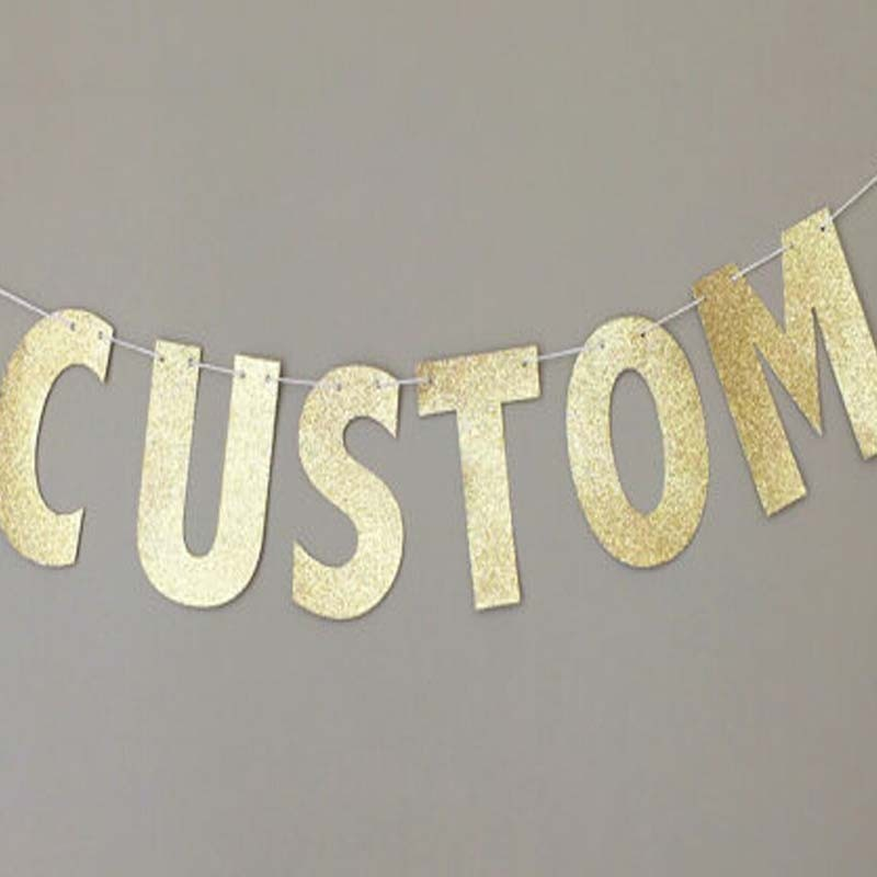 1000pcs gold glitter paper number-F Decor Festive Birthday Party New Year,Christmas ,Cake,Crafts
