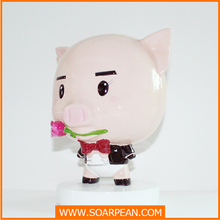 Mini Size Pig Toy, Pig Resin Craft