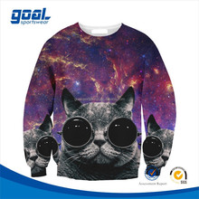 Wholesale all over print custom custom sublimation crewneck hoodie/sweatshirts