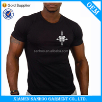 High Quality Cheap OEM Service Gym T Shirts For Men Fashion Muscle Fit Team Wear China Supplier