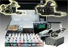 Advanced tattoo kit with 4 digital power supply two tattoo machine and ink