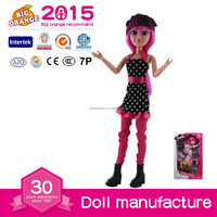 Fashion girl Plastic Doll Wholesale Child Playing Lady Doll Figure Elf Doll