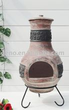 Garden antique clay chiminea