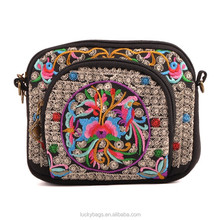 China new arrival women hmong ethnic messenger bag cheap handmade cotton folk shoulder bag for wholesale