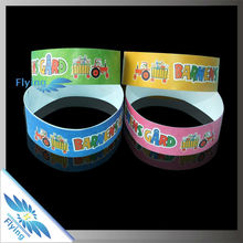 popular promotional custom tyvek paper wristband with logo printed for sale