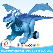 Plastic remote control rc toy electric battery operated dinosaur with light