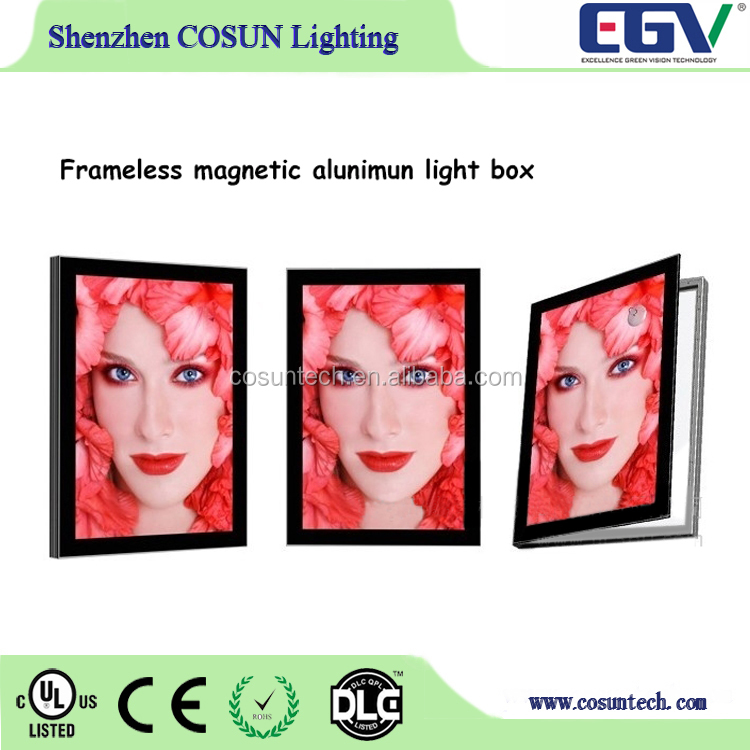 Women sexy open girl photo frame/magnetic poster frames/Led Ultra-thin backlit light box for advertising