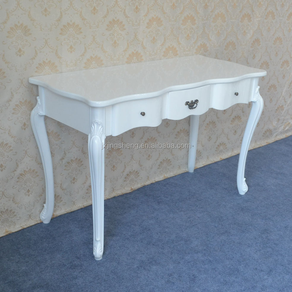 Manufacture Oem delivery on time cheap wood white console table for sale