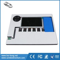 high quality lcd advertising player video module with free hot movie