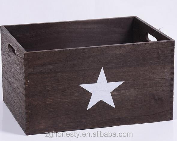 Home sundries wooden storage crate,wooden fruit wooden crate