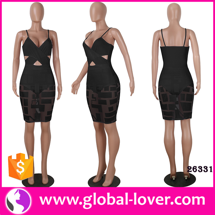 Clothes women sexy transparent black tight dress women night club dresses