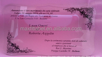 Acrylic wedding card invitation printing card acrylic name card acrylic table
