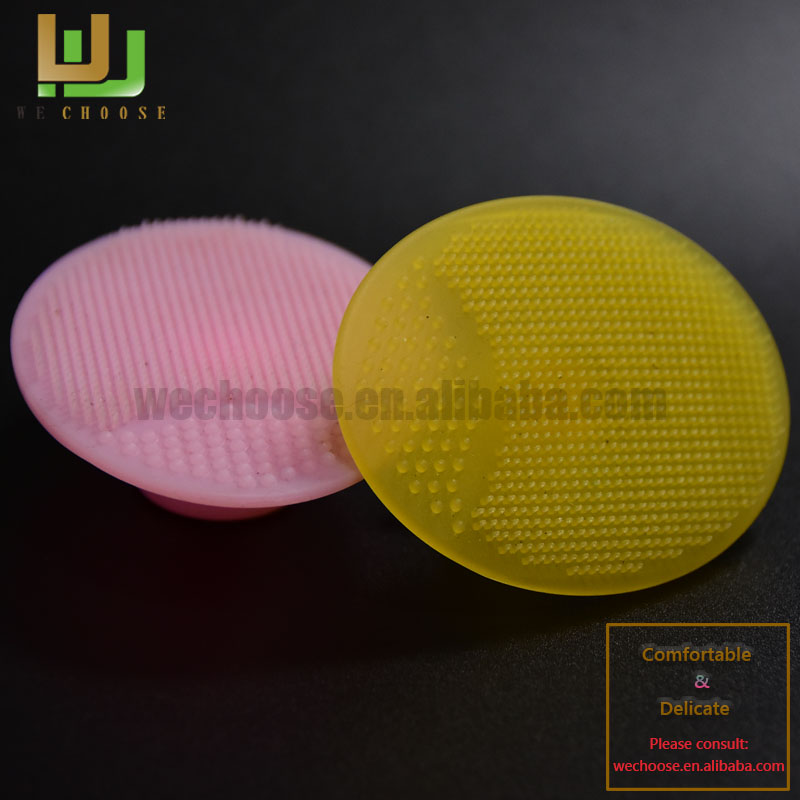 Fresh color soft touch silicone face cleaning brush with good quality