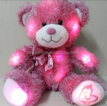 free sample plush teddy bear/wholesale led bear toys/plush led shine bear