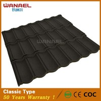 Colorful sand stone coated steel metal roofing tile for houses