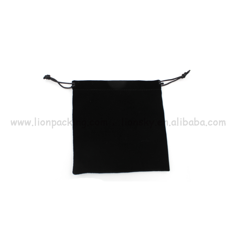 Special order contact us cloth storage bag shenzhen rectangle drawstring velvet bag with different colors opt