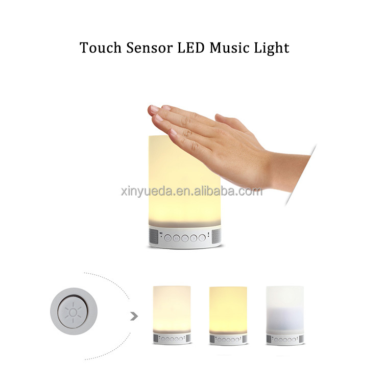 Portable led lamp bluetooth speaker lamp touch sensor led table lamp with mini speaker