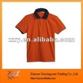 Bright Orange Polo Shirt Collar Design