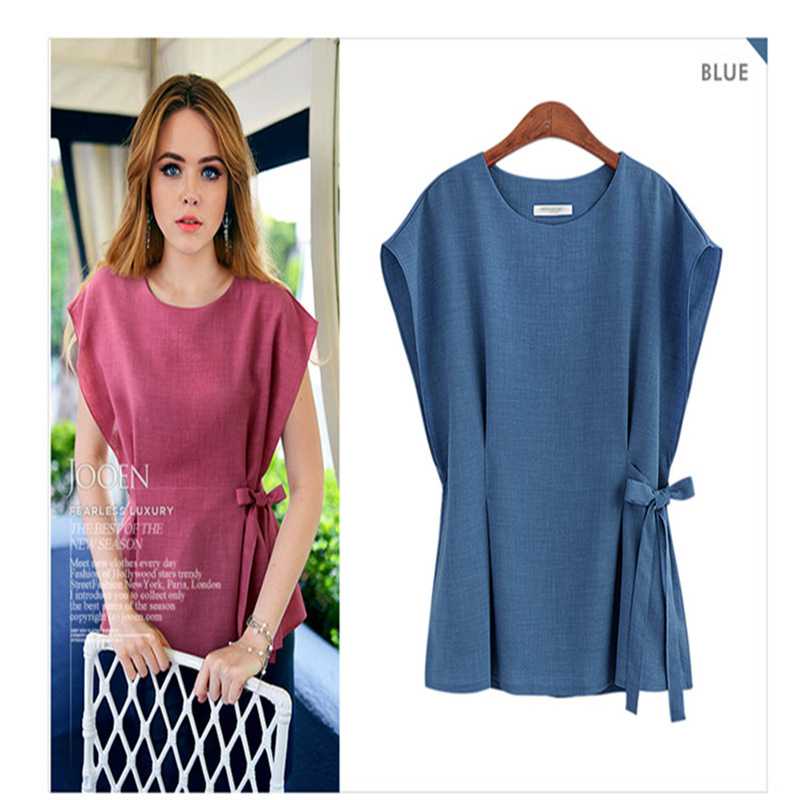 2018 new fashions, flax, linen, cotton and cotton blouse in summer